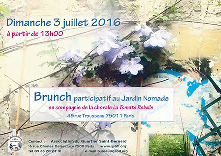 Brunch participatif au jardin nomade jardinons ensemble for Au jardin singapore sunday brunch